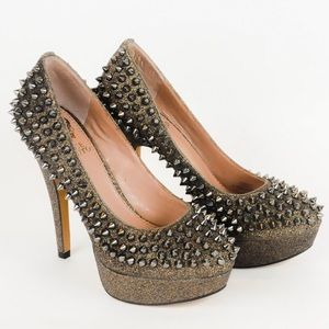 Vince Camuto - Gold Spike Heels - Size 5 1/2